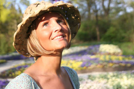 Happy woman in nature Stock Photo - 893112