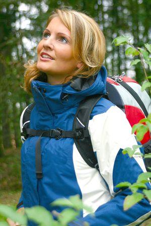 A beautiful Woman in nature - Trekking Stock Photo - 893195