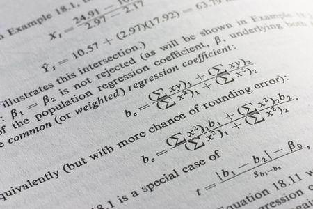 coefficient: statistical formula Stock Photo