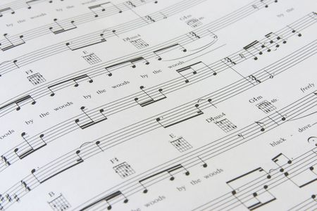 sheet music: sheet music with also chords for guitar