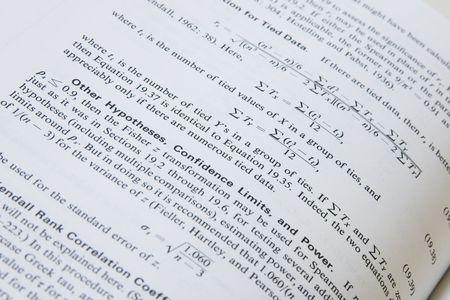 ipotesi: una pagina con spiegazione delle formule matematiche