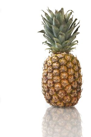 pineapple with reflection on a white background Stock Photo - 906013