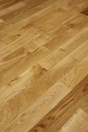 oiled: view of an oak floor just put in oil Stock Photo