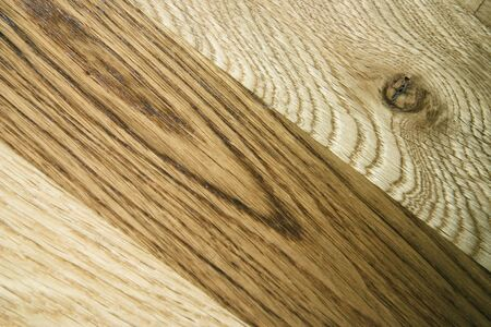 oiled: close up of light and dark oak panels