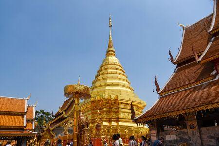 Wat Phra That Doi Suthep Chiang Mai Thailand. Stock Photo