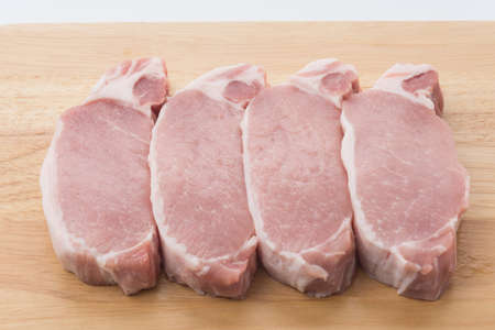 raw meat pork steak isolated photo