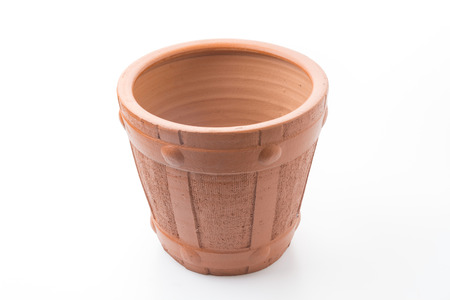 terra cotta: The flowerpot made from baked clay