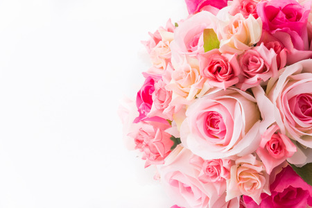 rose bouquet flower isolated on white background photo