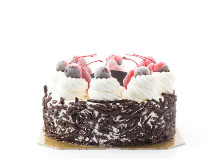 ice-cream cake isolated on white background photo