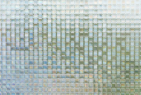 Seamless blue glass tiles texture background,window, kitchen or bathroom concept 스톡 콘텐츠