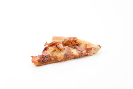 hawaiian pizza isolated on white background photo