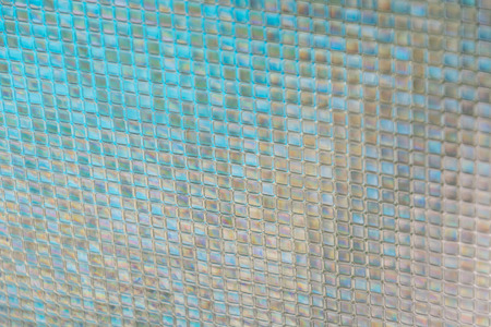Seamless blue glass tiles texture background photo