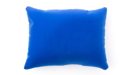 blue neck pillows isolated on white background Stock Photo