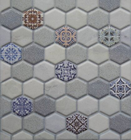exposition: tile background detail or wallpaper