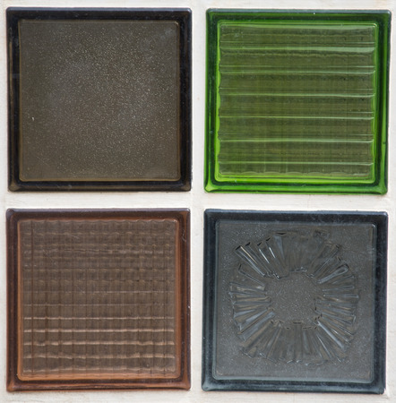 glass block: glass block detail or background Stock Photo