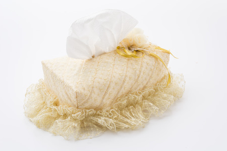 lacework box of tissues isolated