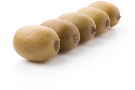Golden Kiwi fruit isolated on white background photo
