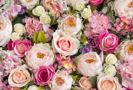Bouquet flower or flowers background Stock Photo