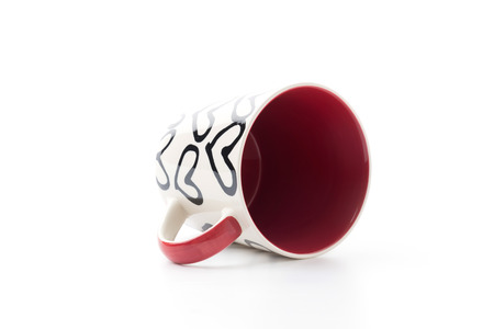 decaffeinated: white red and heart mug