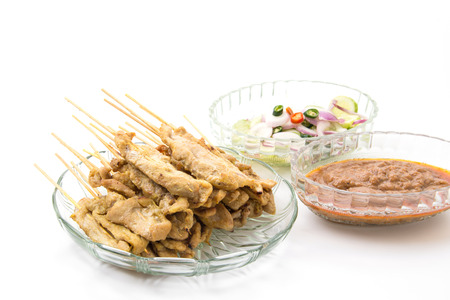 peanut sauce: Pork Satay with peanut sauce