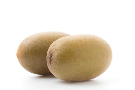Golden Kiwi fruits isolated on white background photo