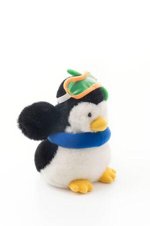 penguin toy isolated on white background