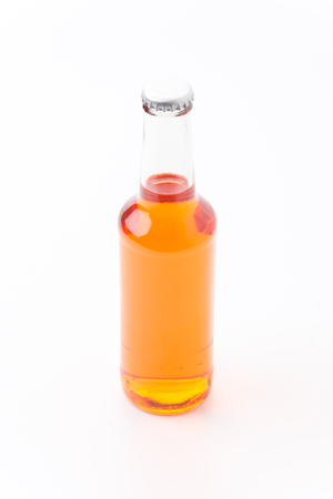 orange wine isolated on white background Stock Photo