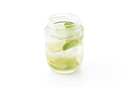 infused: infused water isolated on white background Stock Photo