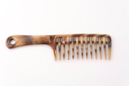 beautician: comb isolated on white background Stock Photo