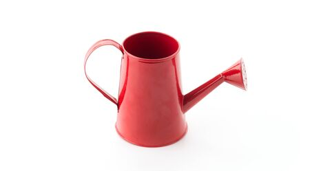 watering pot: red watering pot on white background
