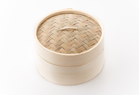 dim: Dim sum basket on white