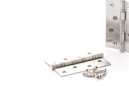 hinge: hinge and screw on white background