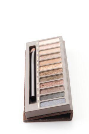 shadow box: eye shadow box on white background