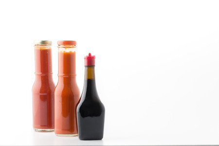 catsup bottle: sauce bottle on white background Stock Photo
