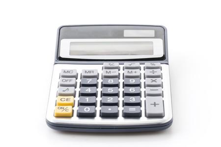calculator isolated on white background photo