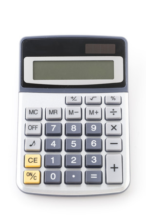 calculadora: Calc. aisladas sobre fondo blanco