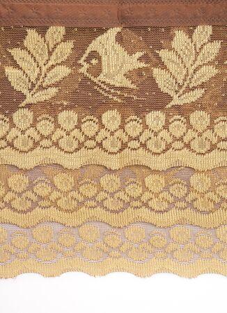 thai silk: gold thai silk detail background