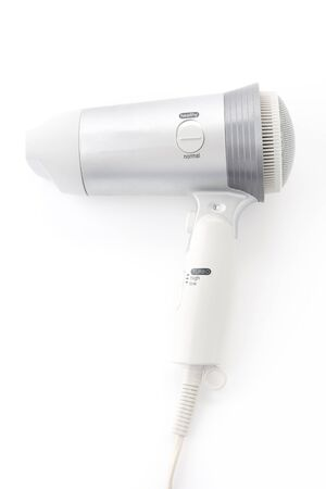 electric dryer: electric hair dryer on white background