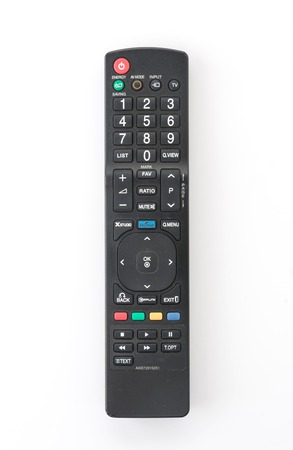 remote isolated on white background Stock Photo