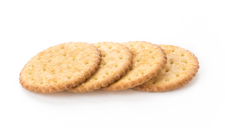 biscuit: marie sesame biscuit on white background