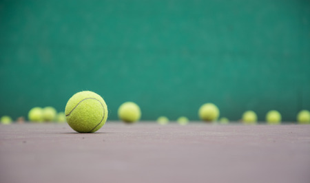tennis net: tennis ball on the court