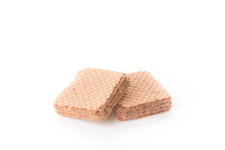 wafer: chocolate wafer on white background