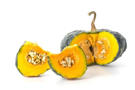 mini farm: pumpkin isolated on white background