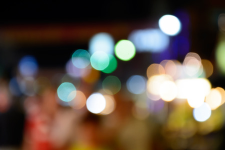 lighhts: blured lighhts bokeh for background from walking street in Hua Hin, Thailand.
