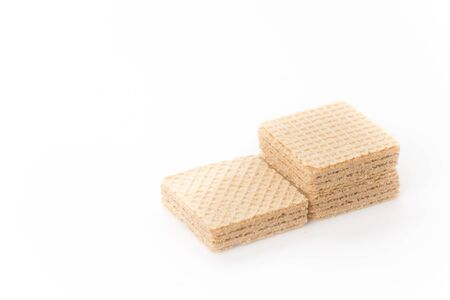 wafer: coffee wafer on white background
