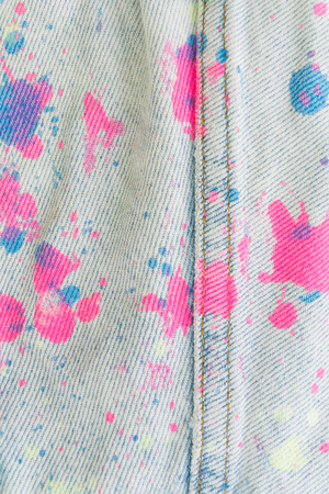 color stain: blue jeans texture or detail of color stain Stock Photo