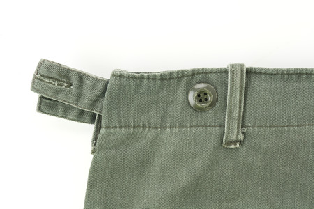 pant: soldier military pant detail and texture Stock Photo