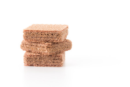 wafer: Chocolate wafer on white