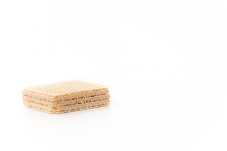 wafer: Coffee wafer on white