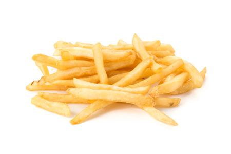 frites: French fries on white